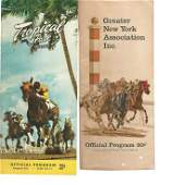 Two 1957 Horse Racing Programs