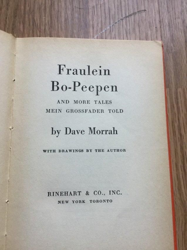 Fraulein Bo-Peepen and More Tales by Dave Morrah - 2
