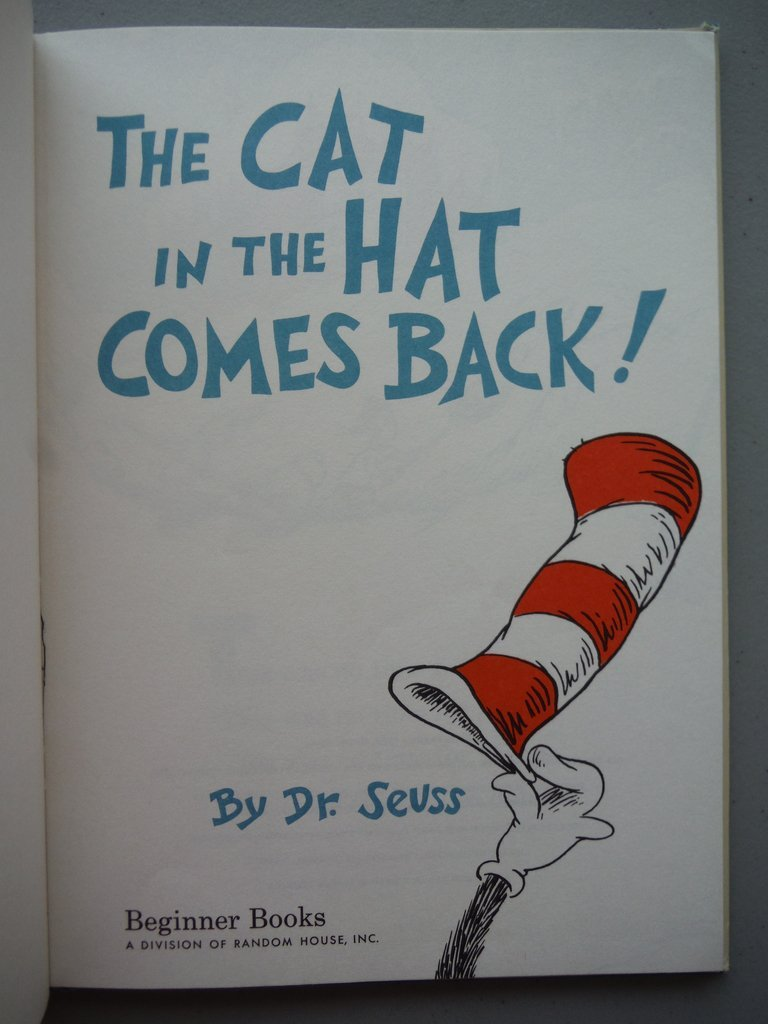 Dr. Seuss The Cat in the Hat Comes Back - 2