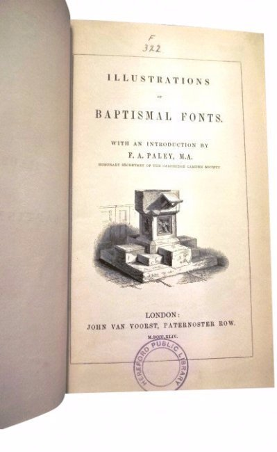 Illustrations of Baptismal Fonts by F.A. Palley