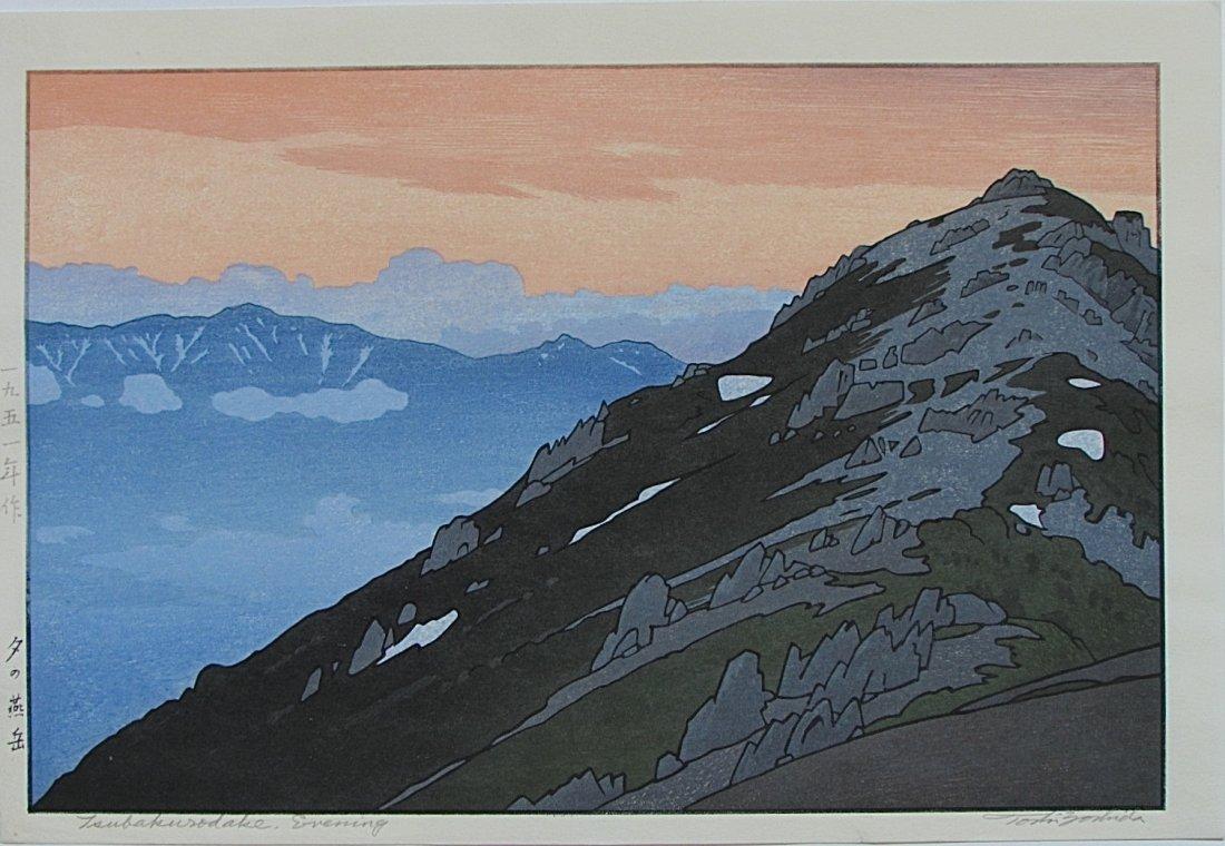 Toshi Yoshida - Tsubakorodake, Evening