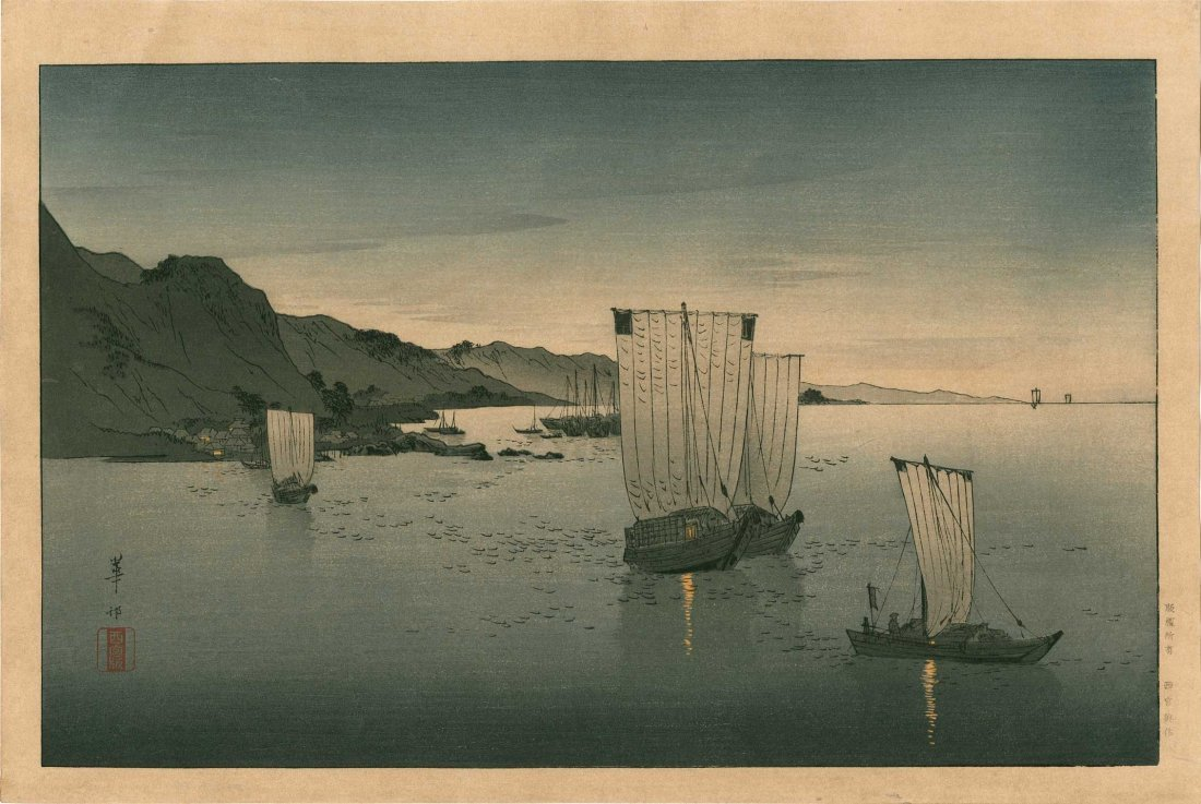 Kason Suzuki - Evening View of Kominato Bay