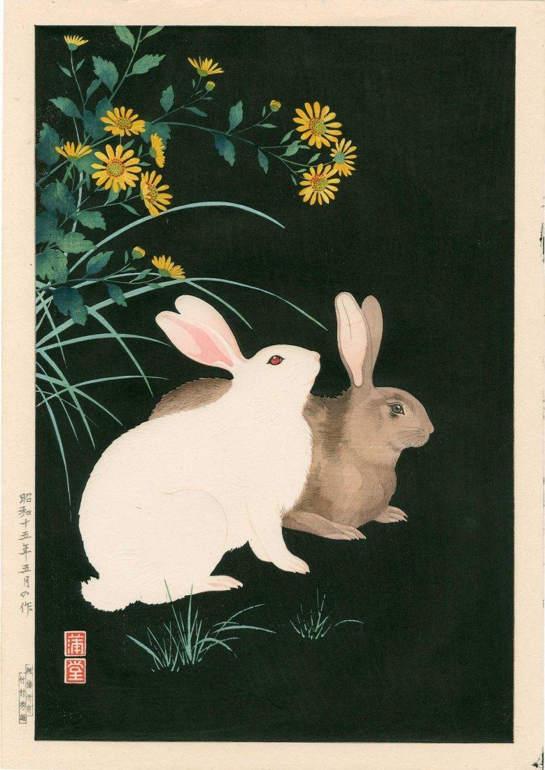 Hodo Nishimura - Two Rabbits at Night