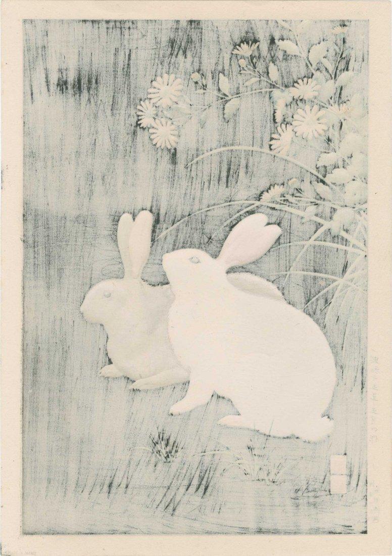 Hodo Nishimura - Two Rabbits at Night - 2