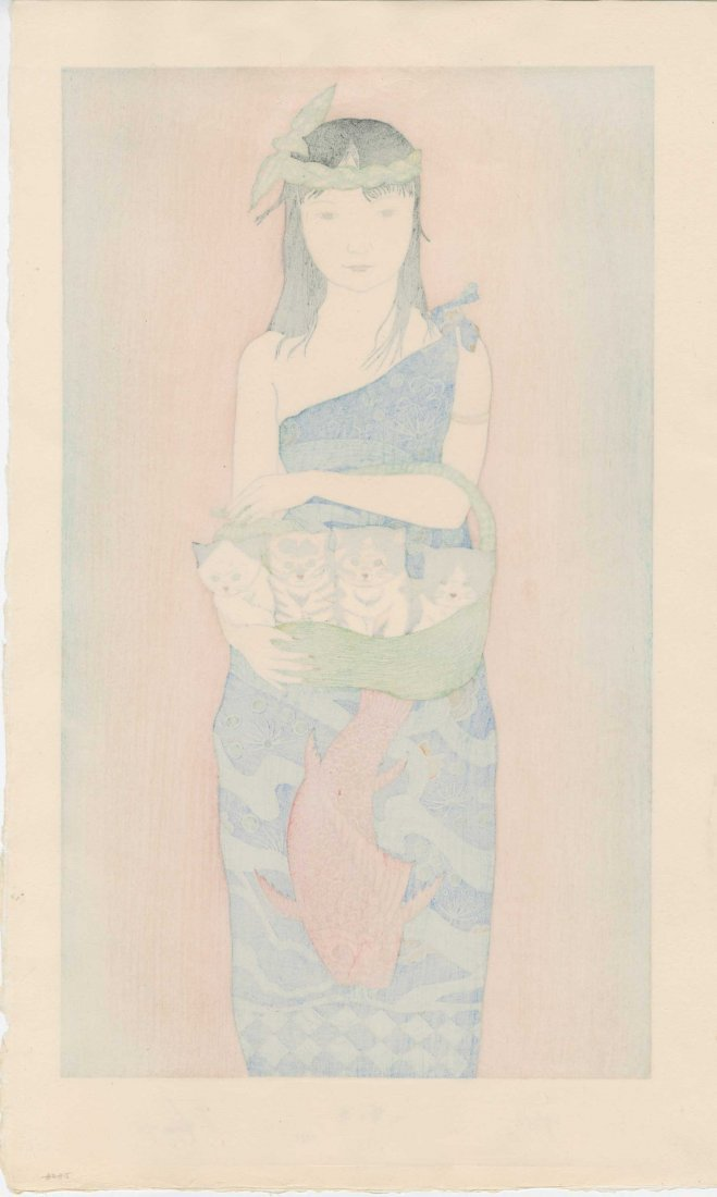 Ryusei Okamoto - Girl with Four Kittens (Boating) - 2