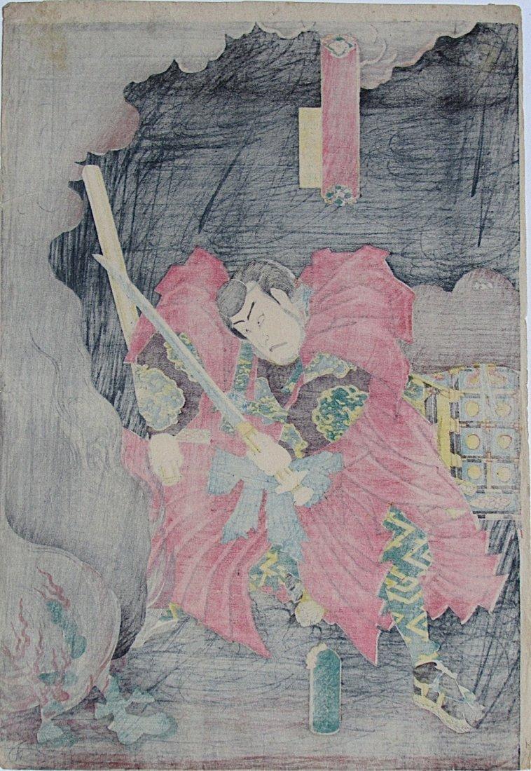 Utagawa Kunisada - Musashi Benkei - 2