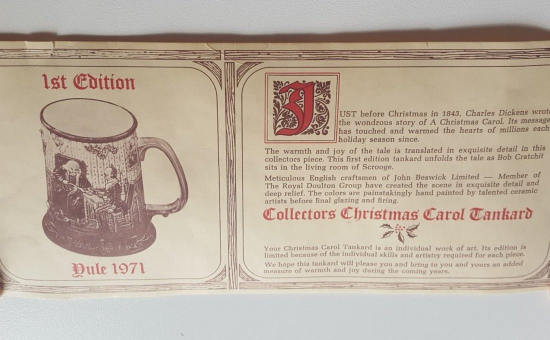 Royal Doulton Figurine: Dickens Christmas Tankard - 7