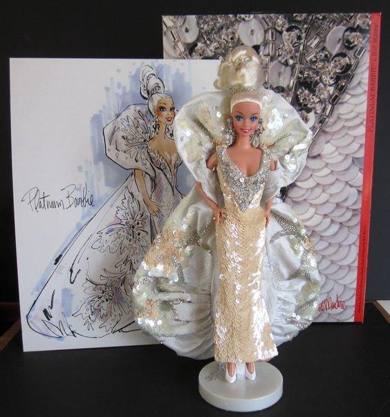 Bob Mackie Platinum Barbie, 1991 - 2