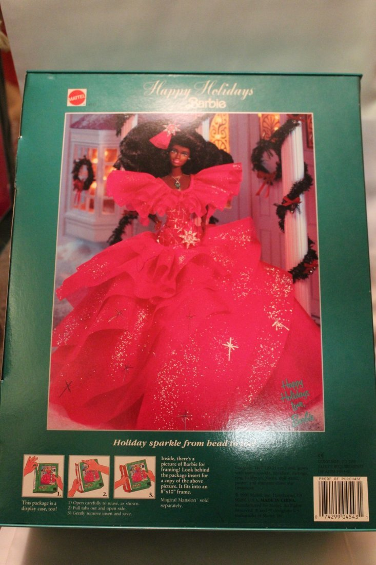 Lot of 2 Happy Holidays Special Edition Barbies, 1990 - 2