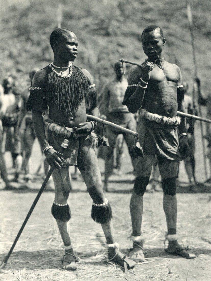 Hugo Bernatzik: Nuba Rattle Dancers, Africa