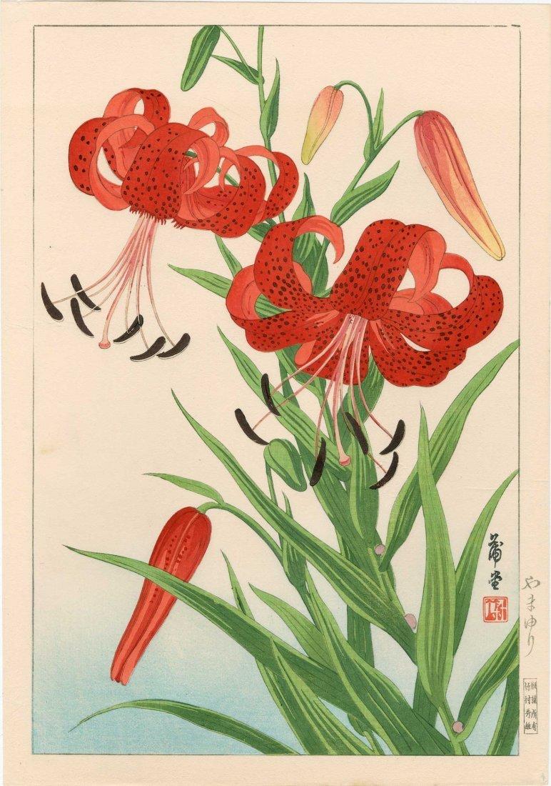 Nishimura Hodo - Tiger Lilies