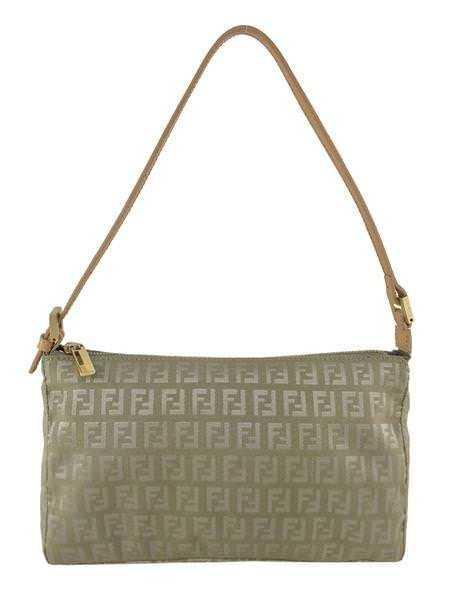 14b2084ed975 Fendi Zucchino Canvas Pochette Bag