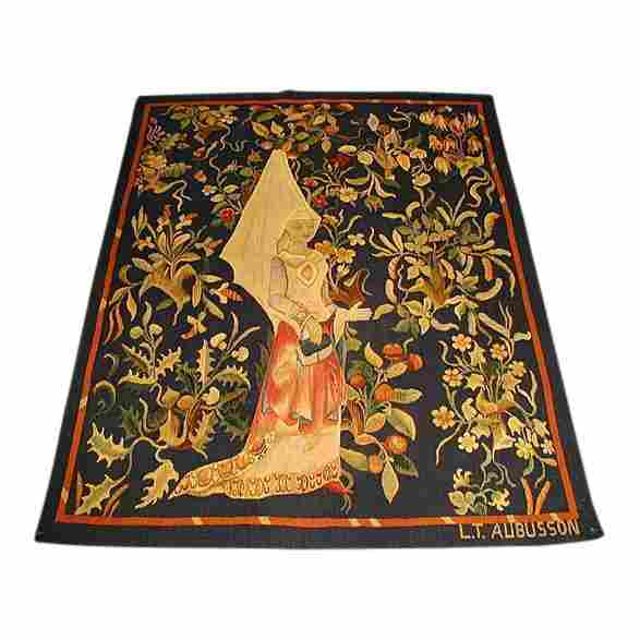 Antique Aubusson Tapestry, 4x4