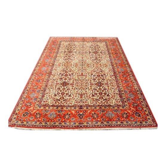 Rare Antique Persian Isfahan Wool Rug, 11x16