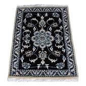 Silk Blend Persian Nain Wool Rug 3x1