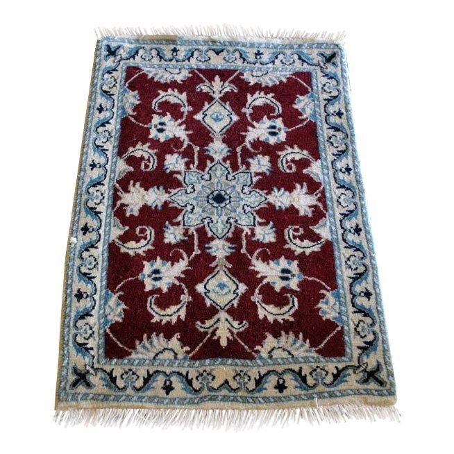 Persian Nain Wool Rug, 1.10 x 2.10 feet