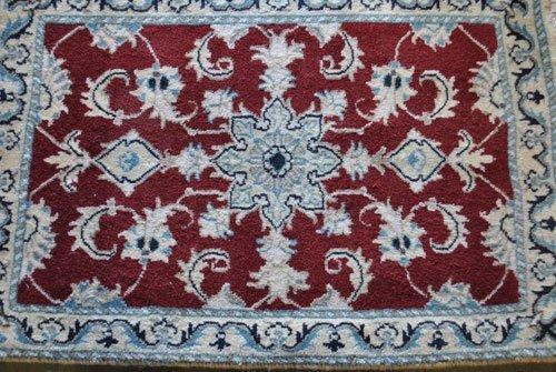 Persian Nain Wool Rug, 1.10 x 2.10 feet - 2