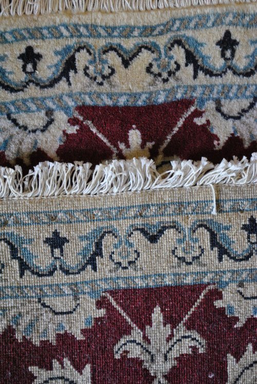 Persian Nain Wool Rug, 1.10 x 2.10 feet - 4