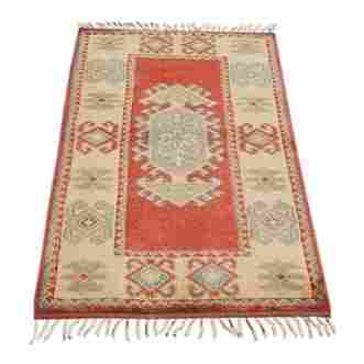 Turkish Konya Wool Rug, 4x2