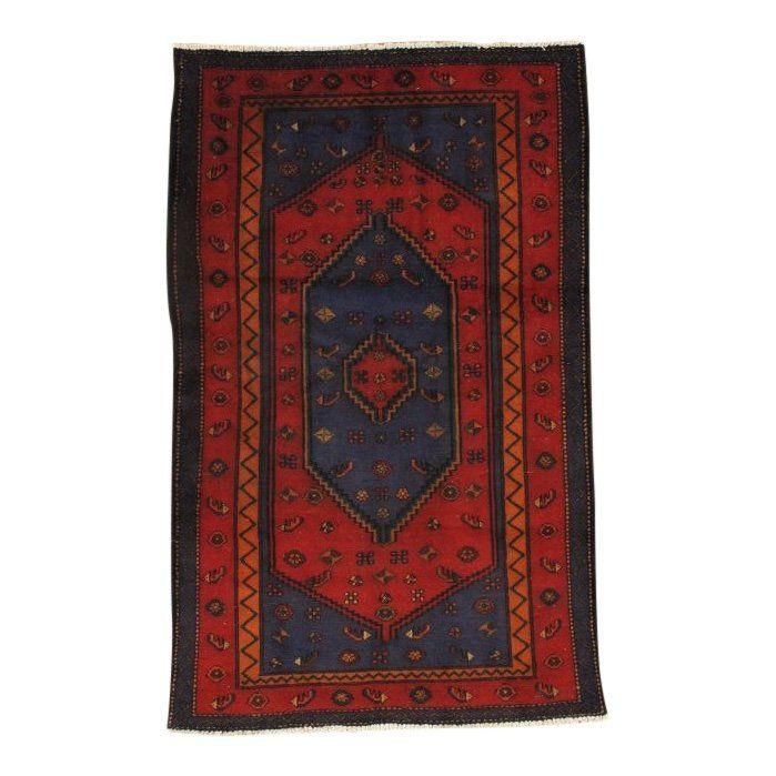 Persian Hamadan Wool Area Rug, 4x7