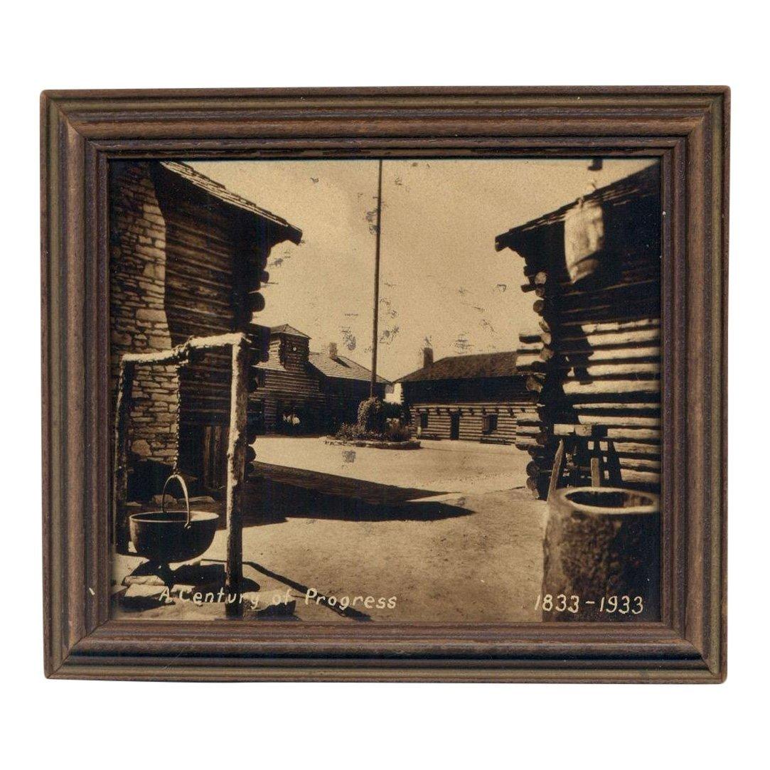 Chicago World's Fair Framed Orotone Photo, 1933