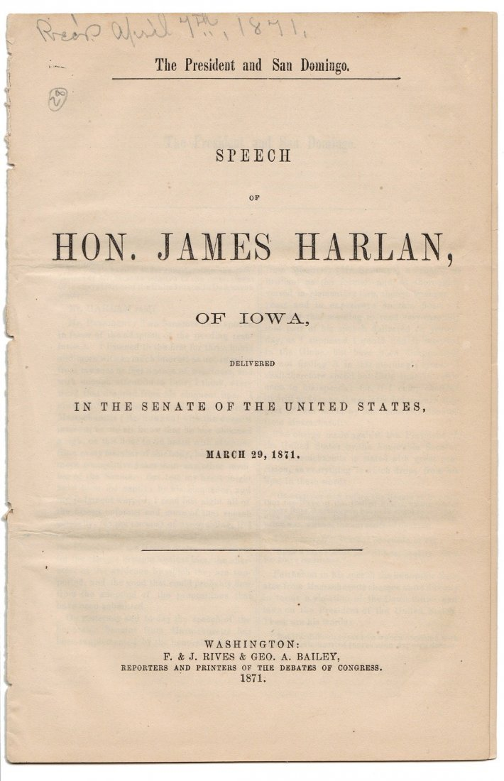Collection of 5 U.S. Senate Pamphlets: Annexation, 1870