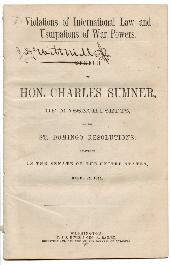 Collection of 5 U.S. Senate Pamphlets: Annexation, 1870 - 5