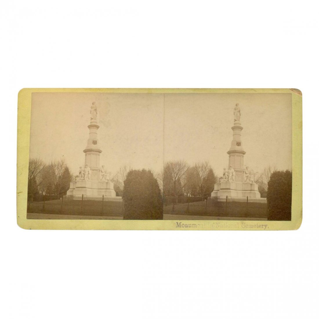 Civil War Stereoview: Soldiers National Monument, 1870