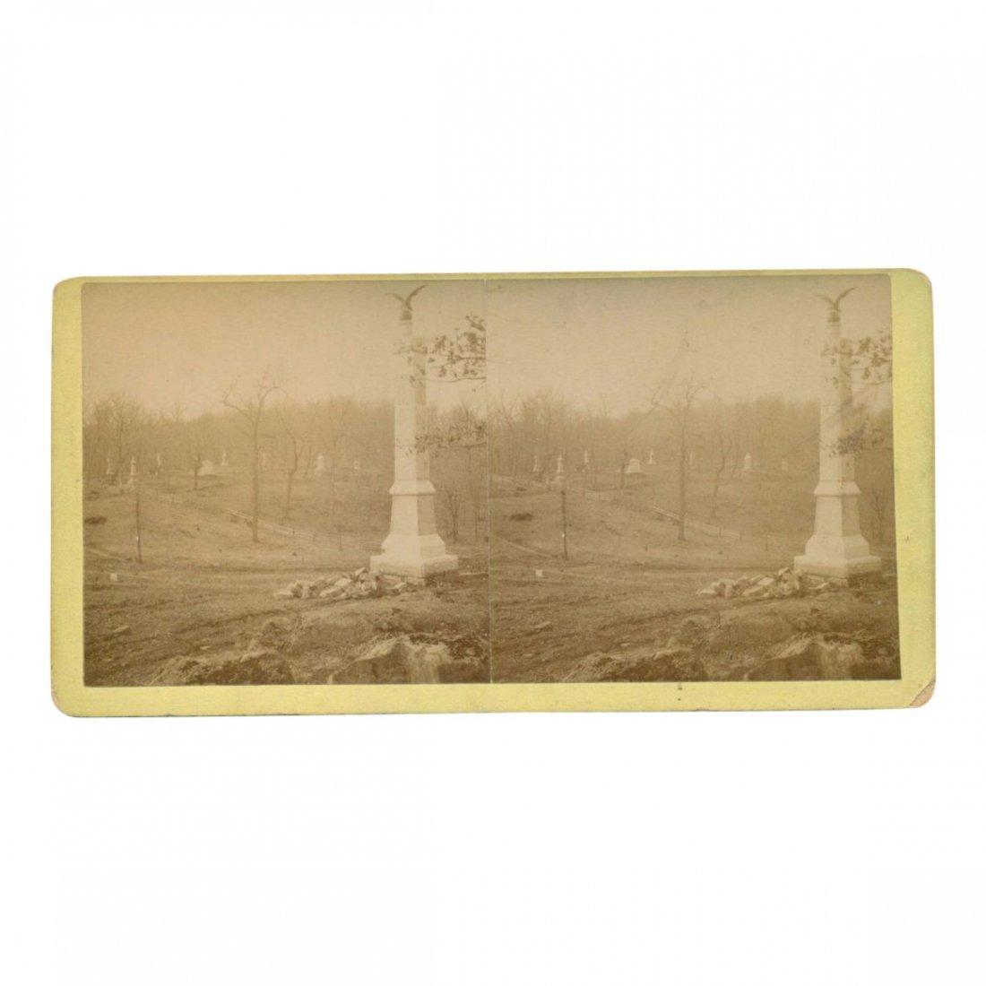 Civil War Stereoview: 111th Pennsylvania Memorial, 1889