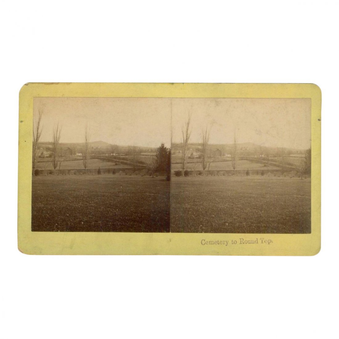 Civil War Stereoview: Cemetery to Round Top, 1880