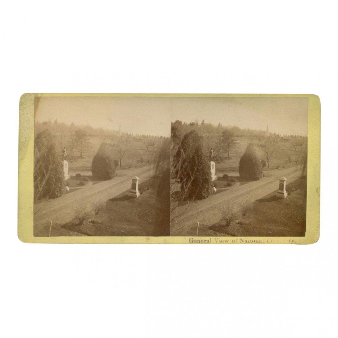 Civil War Stereoview: Veterans National Cemetery, 1880