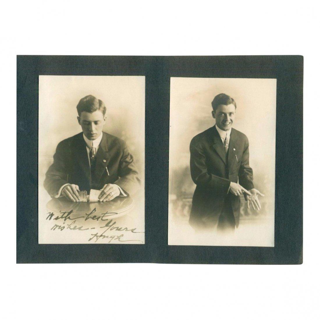 Lot of 2 Vintage Magic Trick Photos, 1920