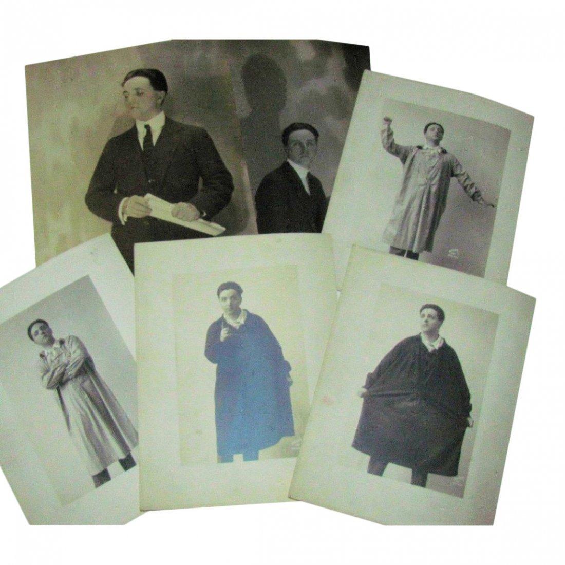 Lot of 6 Vintage Photos: Singer Cecil Fanning, 1925