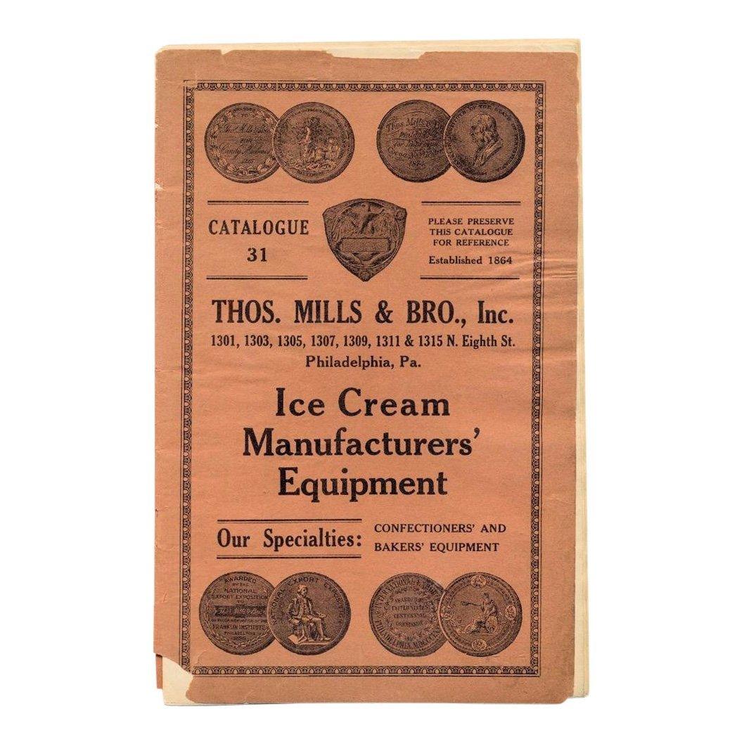 Antique Thos Mills Ice Cream Manufacturer Catalog, 1910