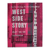 Vintage Screen Print Poster West Side Story 1960s