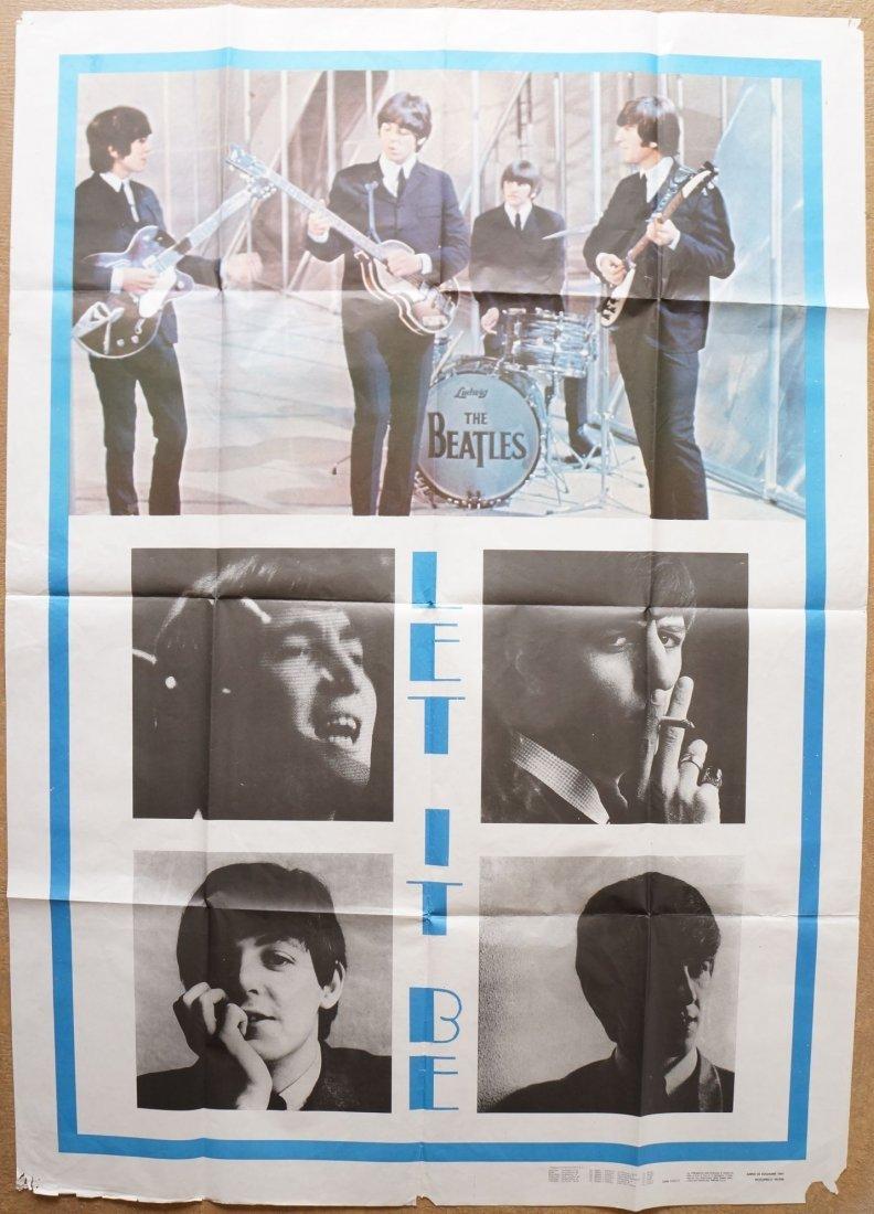 "Beatles Italian ""Let It Be"" Film Poster"