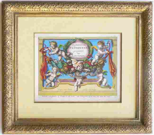 Frederick De Witt Hand Colored Engraving, 1670