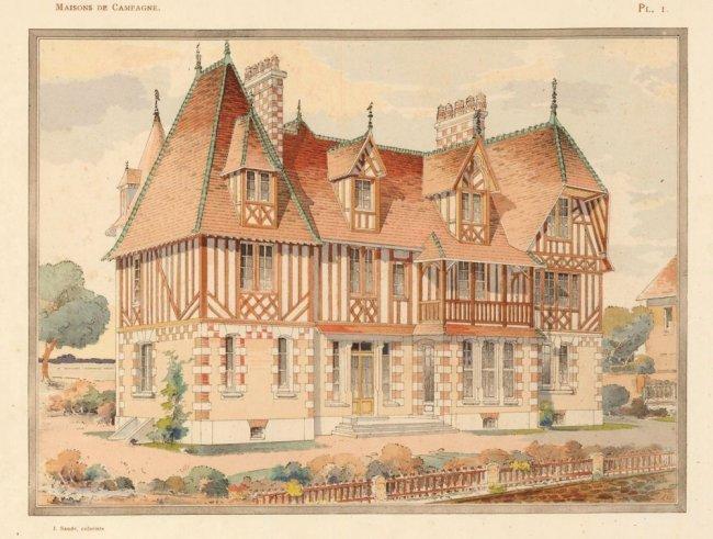 Villa Normande, a Grandcamp-les-Bains, 1910