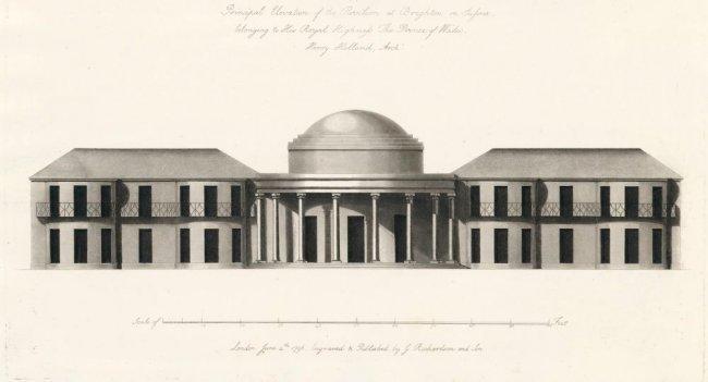 Elevation of Brighton Pavilion, 1802-3