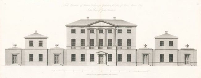 North Elevation of Thornes House, 1802-8