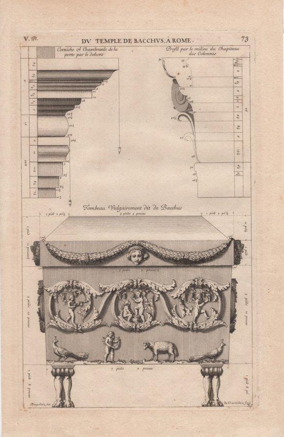 DV Temple De Bachhvs A Rome, 1682