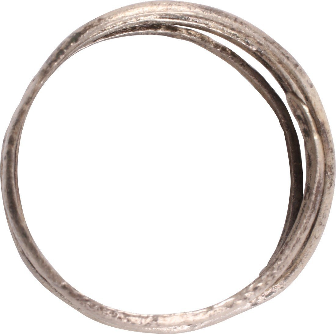 Silvered Bronze Viking Coil Ring, 9th-10th C - 2