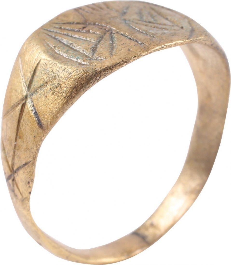 Bronze Viking Seaman's Ring, 850-1050 A.D. - 3