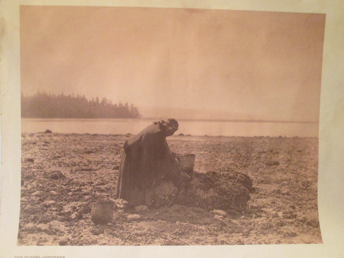 Edward S. Curtis: The Mussel Gatherer