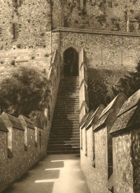 E.O. Hoppe: Entrance to Keep. Arundel Castle, Sussex