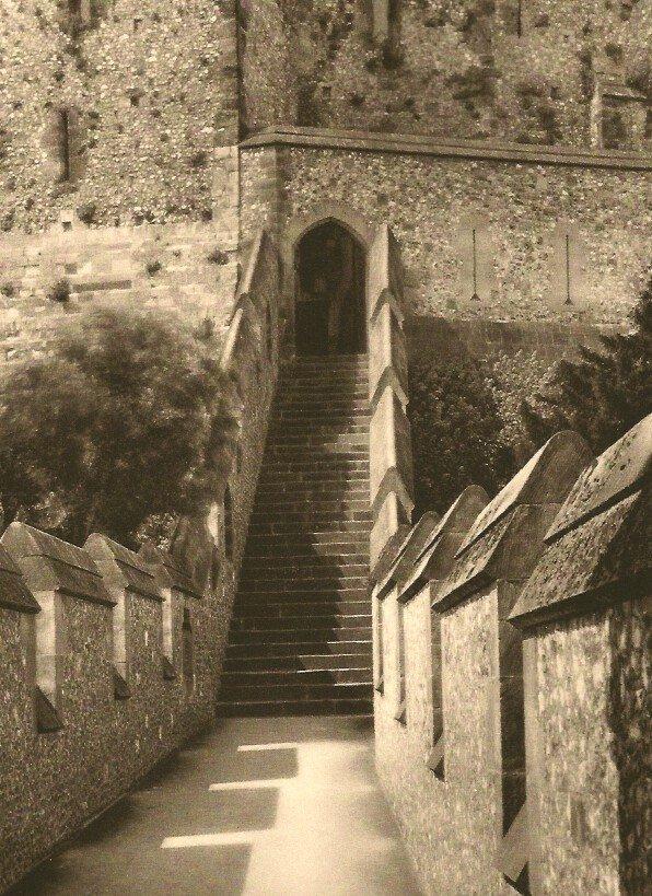 E.O. Hoppe: Entrance to Keep. Arundel Castle, Sussex