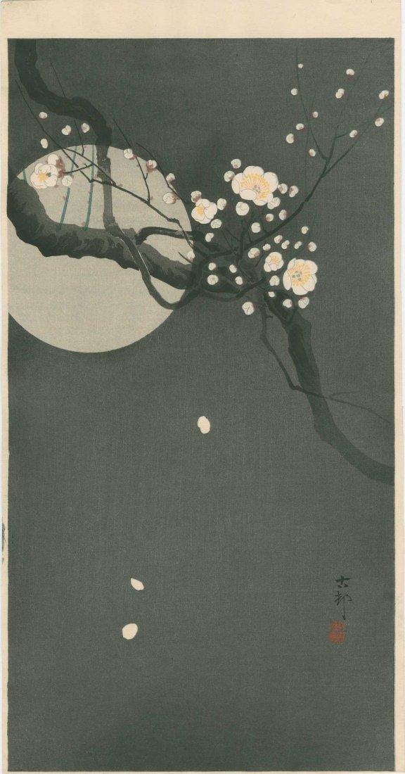 Ohara Koson - Full Moon and Blossoms 1920's