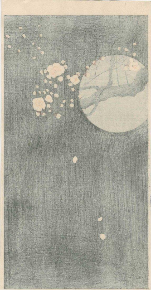 Ohara Koson - Full Moon and Blossoms 1920's - 3