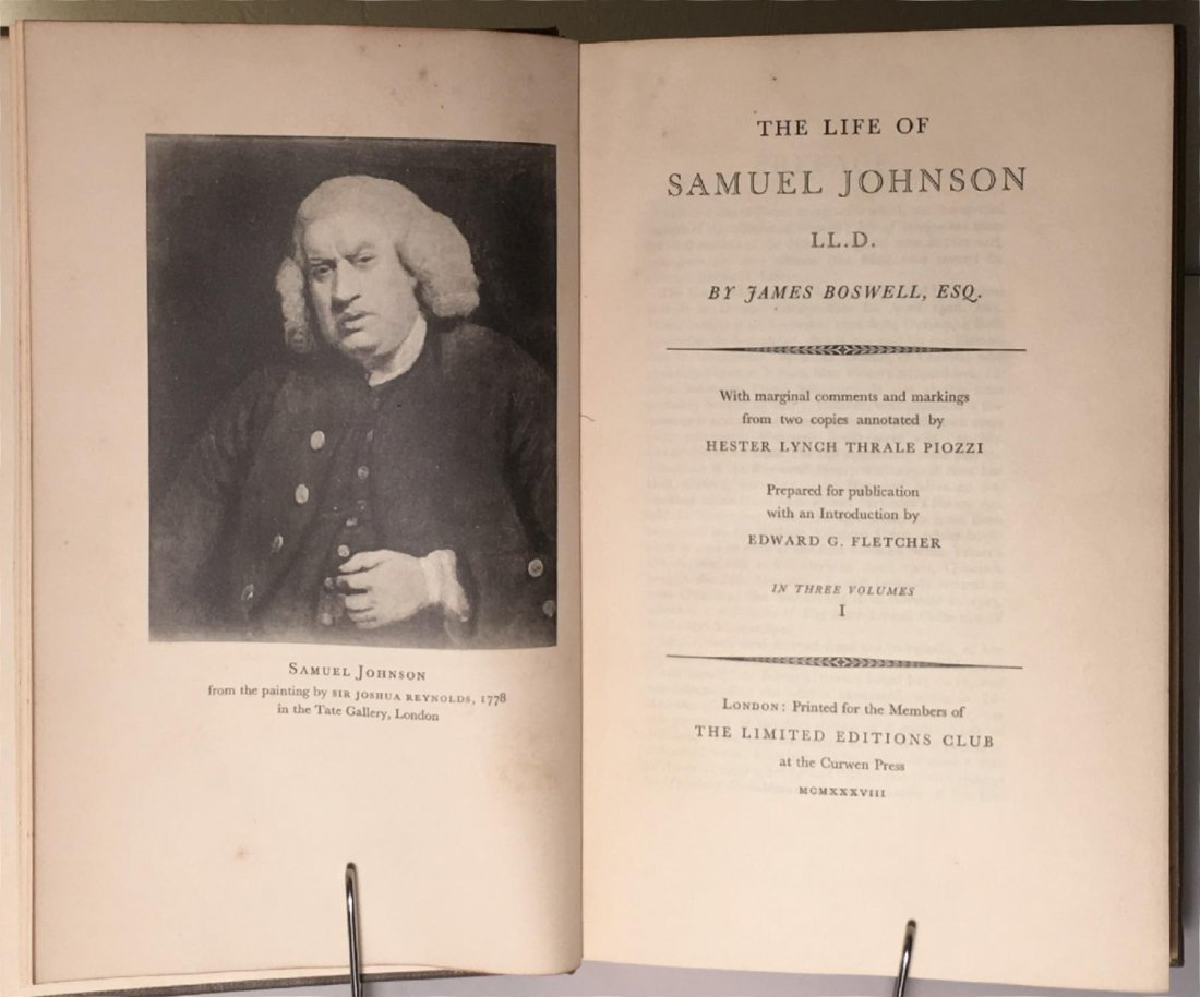 The Life of Samuel Johnson, 1938 - 3 vols - 2