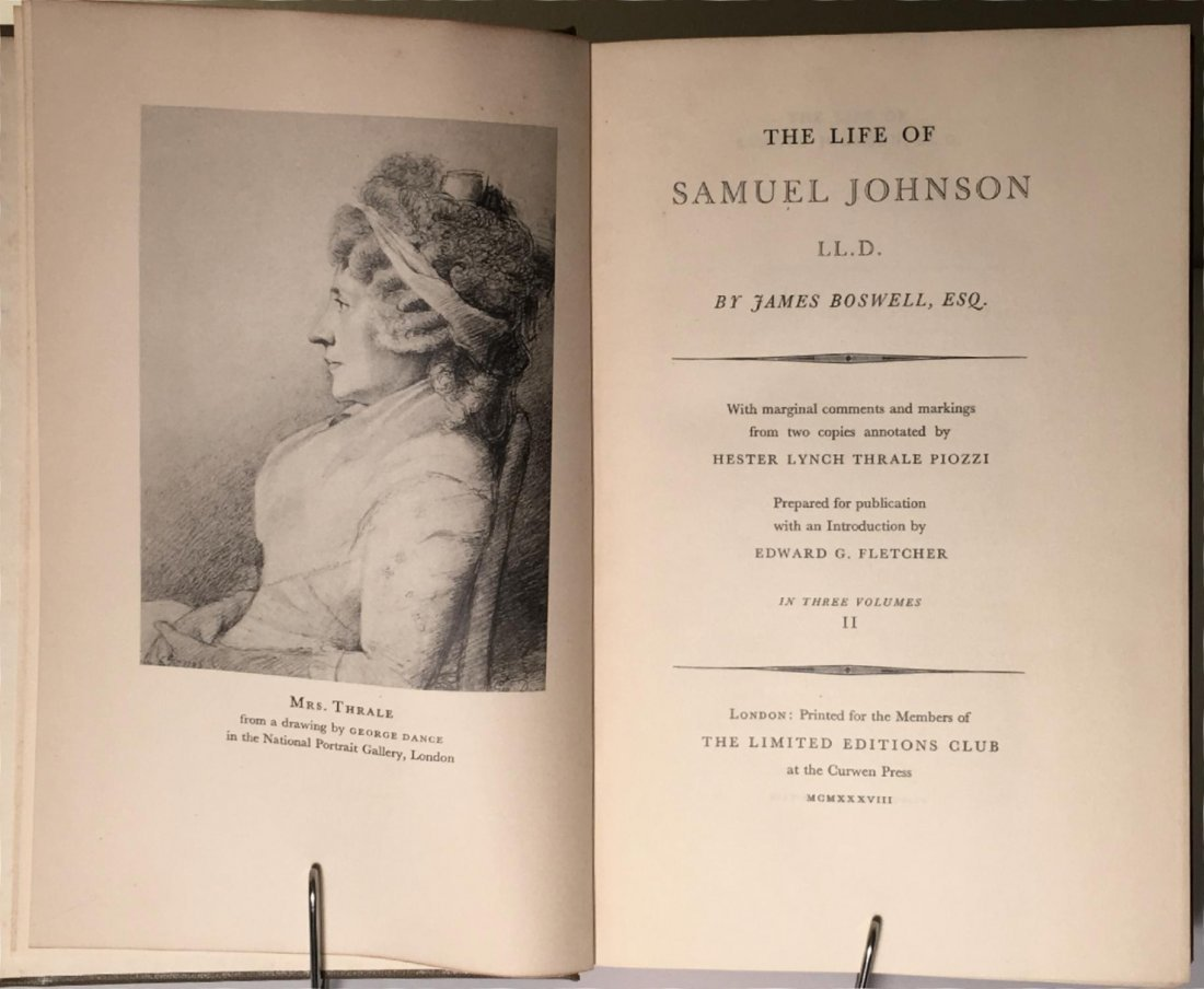 The Life of Samuel Johnson, 1938 - 3 vols - 3